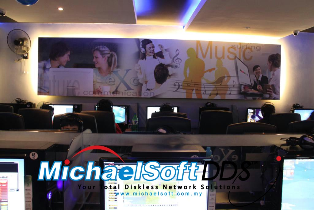 New Technology of IT Lines - Diskless Cloud Computing , Diskless Cybercafe , Diskless Karaoke , Diskless Education , Diskless Office